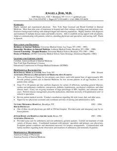 Medical Curriculum Vitae Templates Medical Cv Template Cv Examples Pinterest