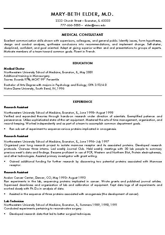 Medical Curriculum Vitae Templates Medical Doctor Resume Example