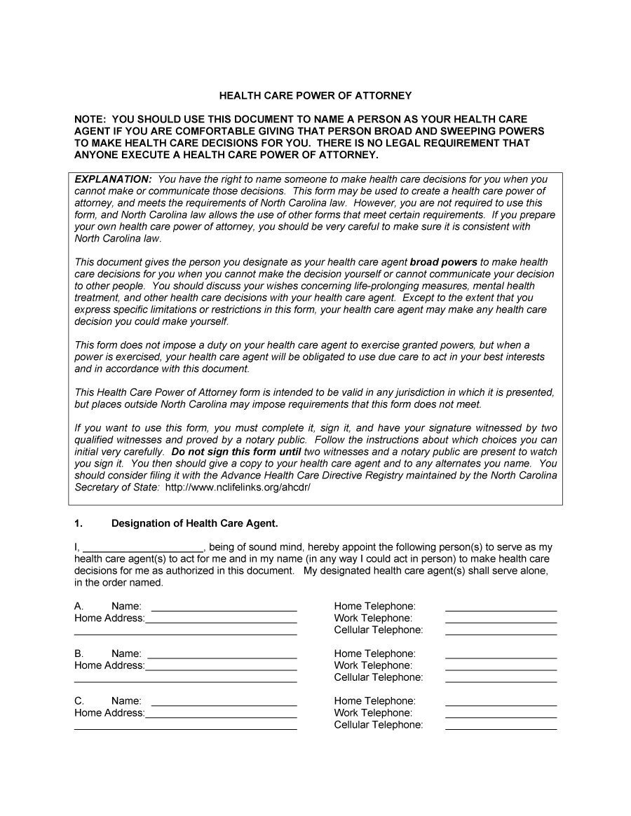 Medical Power Of attorney Template 50 Free Power Of attorney forms & Templates Durable