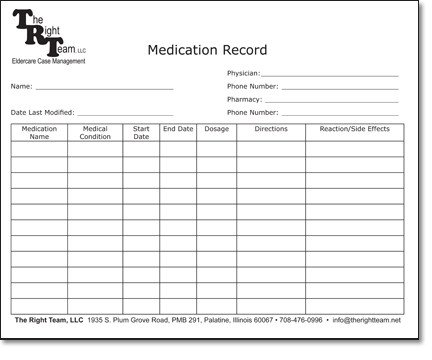 medication administration record template pdf Hospi