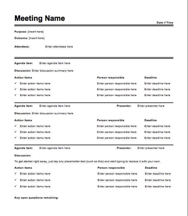 Meeting Minutes Template Word Free Meeting Minutes Template How to Write Meeting