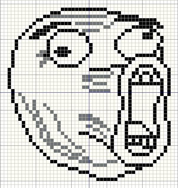 Meme Pixel Art Grid Buzy Bobbins Lol Guy Meme Cross Stitch Design