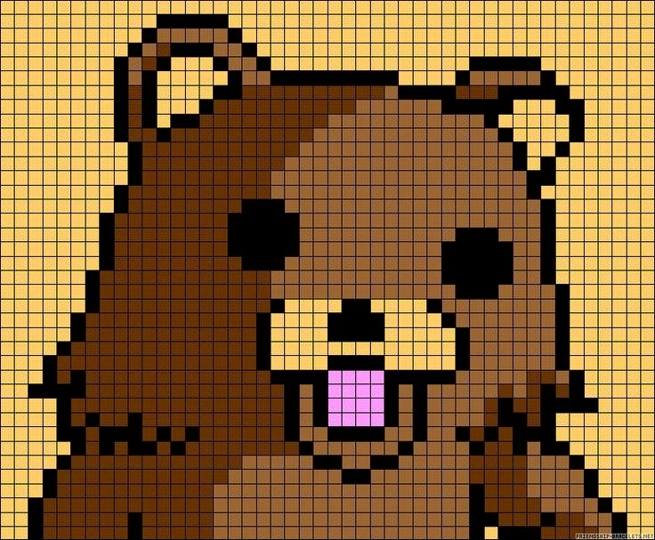 Meme Pixel Art Grid Pedobear Internet Meme Perler Bead Pattern