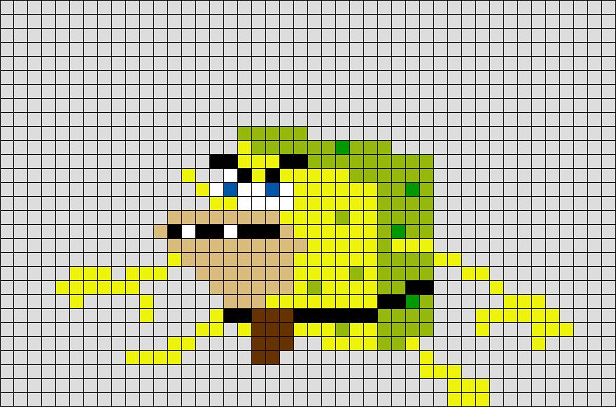Meme Pixel Art Grid Pixel Spongebob Meme – Brik