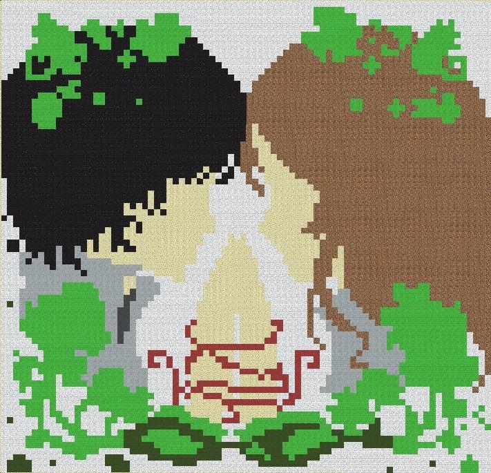 Meme Pixel Art Grid to Her by Ernest Girl Deviantart