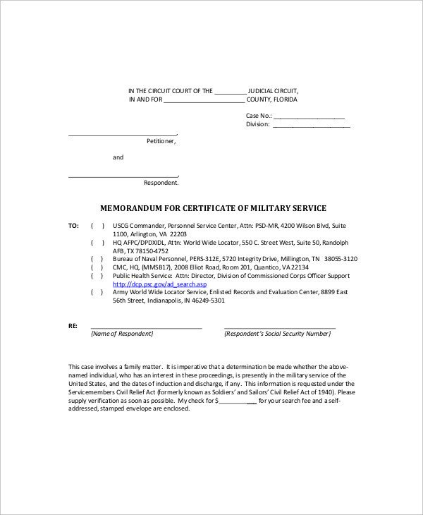 Memorandum for Record Army 9 Blank Memo Examples & Samples Pdf Word Apple Pages