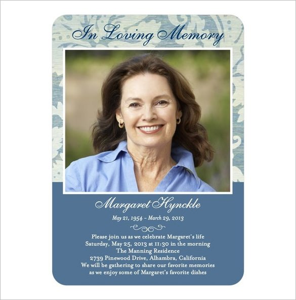 Memorial Card Template Free Download 16 Obituary Card Templates Free Printable Word Excel