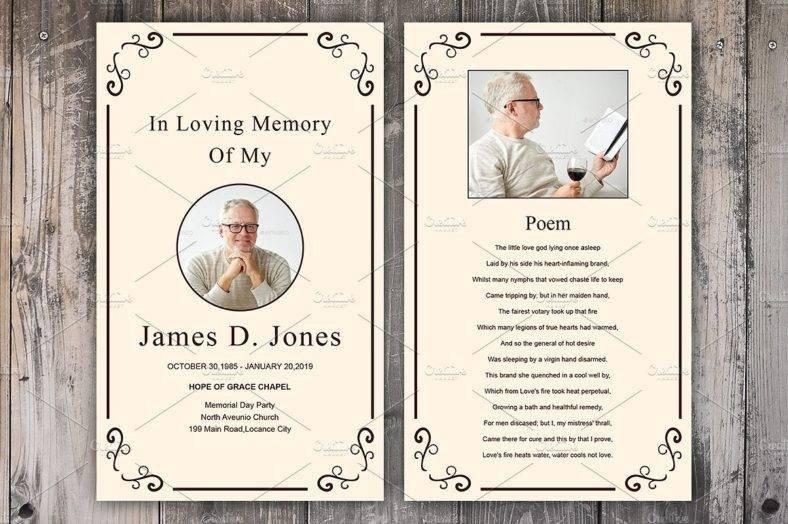 Memorial Card Template Free Download 17 Funeral Memorial Card Designs & Templates Psd Ai
