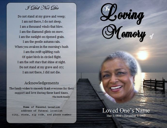 Memorial Card Template Free Download 73 Best Images About Printable Funeral Program Templates