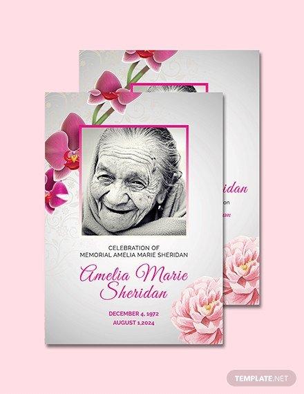 Memorial Card Template Free Download Free Funeral Memorial Card Template Download 232 Cards