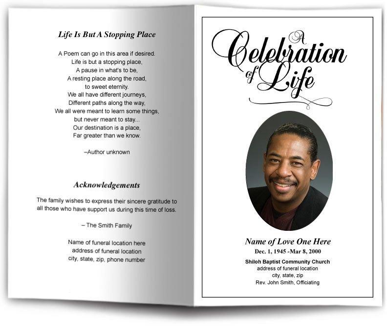 Memorial Card Template Free Download Funeral Program Obituary Templates