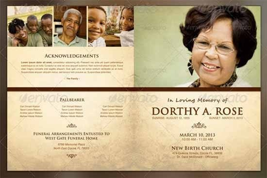 Memorial Services Program Template Sample Funeral Program Template 30 Download Free