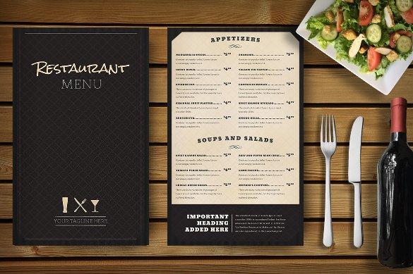 Menu Template Free Download Restaurant Menu Template 33 Free Psd Eps Documents