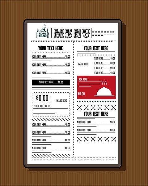 Menu Template Free Download Restaurant Menu Template Free Vector 19 437 Free