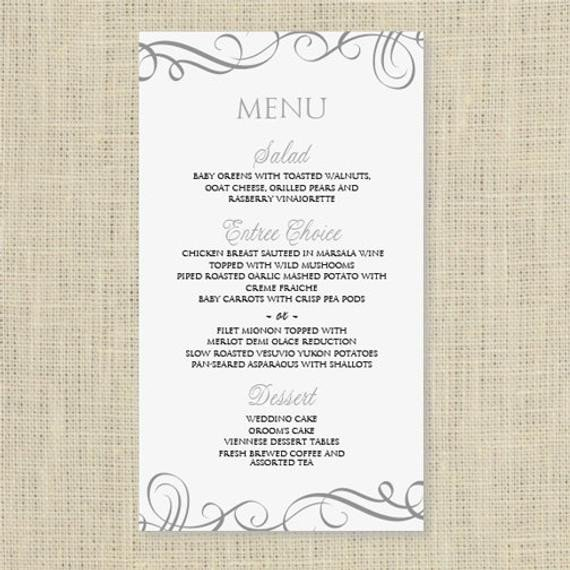 Menu Template Free Download Wedding Menu Card Template Download Instantly by