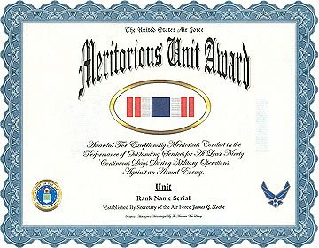 Meritorious Mast Example Meritorious Unit Award Display Recognition