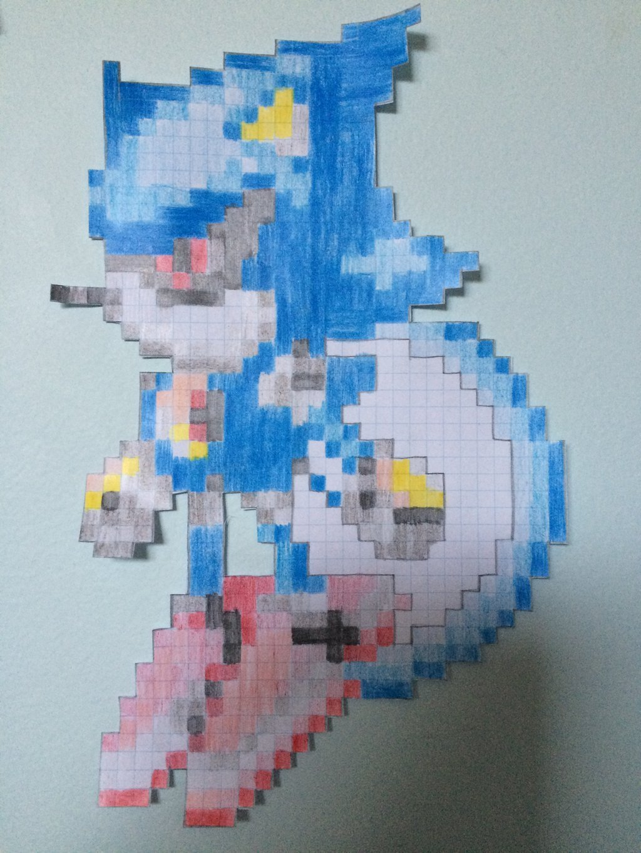 Metal sonic Pixel Art Classic Metal sonic Pixel Art by thejackedex On Deviantart