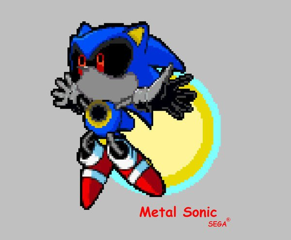 Metal sonic Pixel Art Metal sonic by Phycosmiley On Deviantart