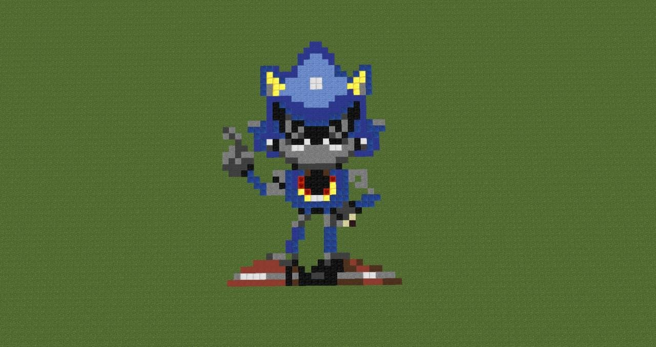 Metal sonic Pixel Art Metal sonic Pixel Art Minecraft Project