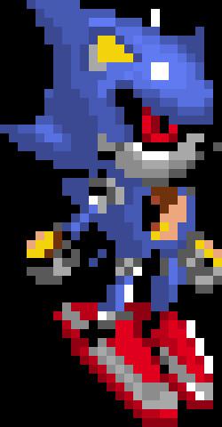 Metal sonic Pixel Art Metal sonic with Red Eyes 2 0