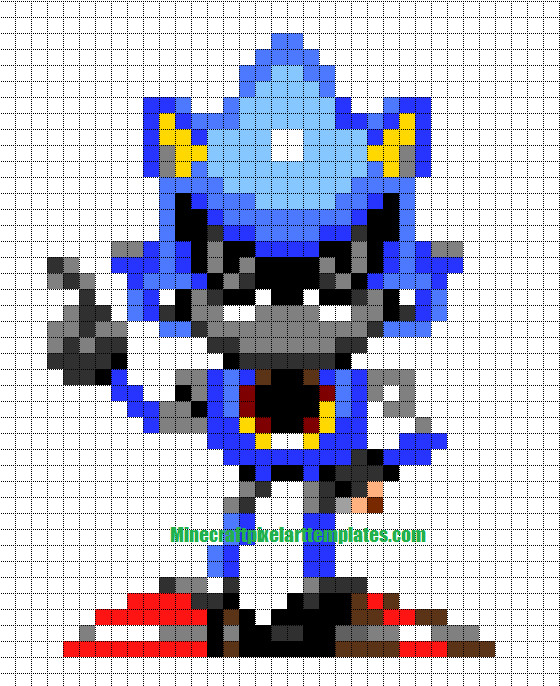 Minecraft Pixel Art Templates Metal Sonic
