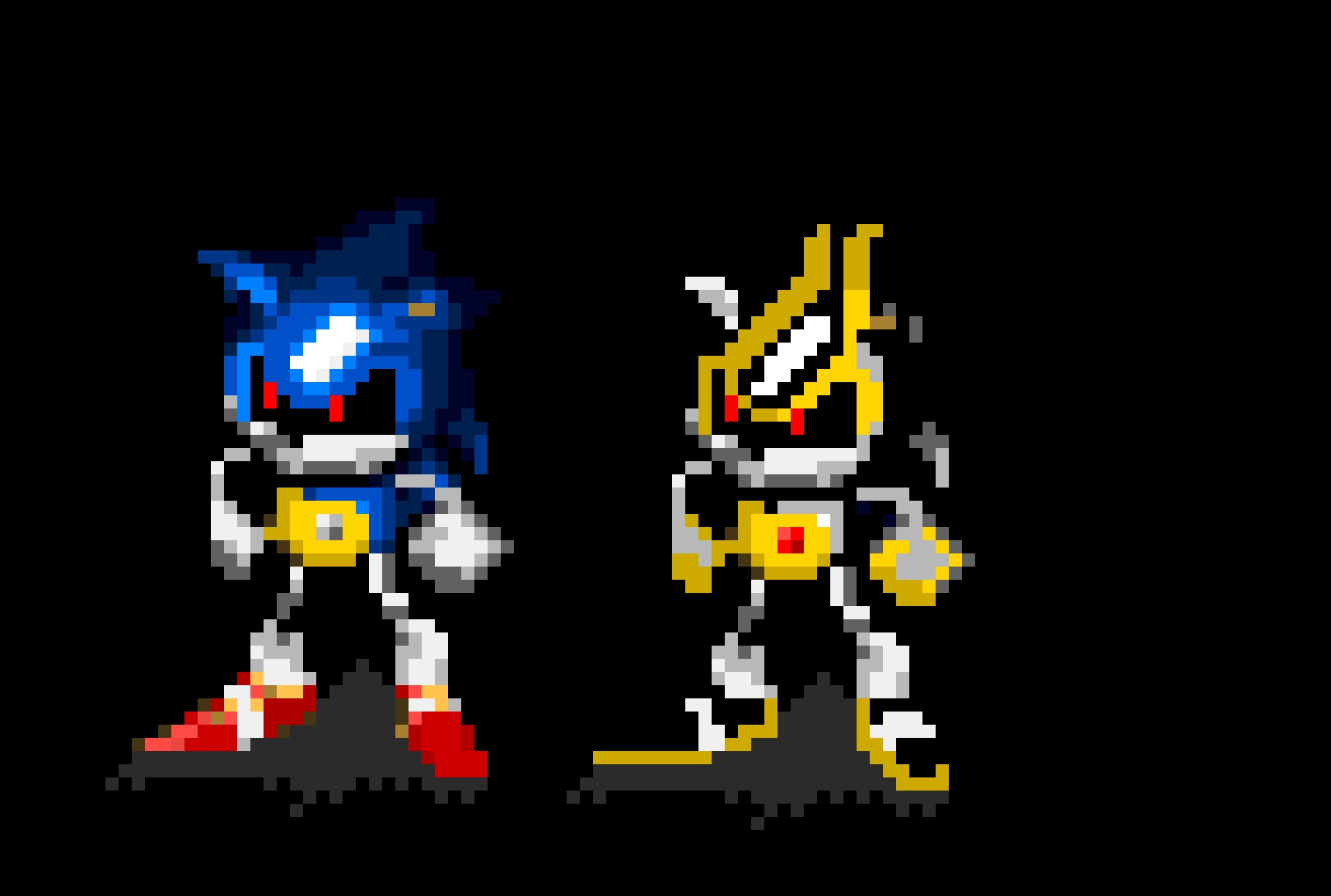 Metal sonic Pixel Art Pre Rendered Metal sonic 101 Shard Bonus