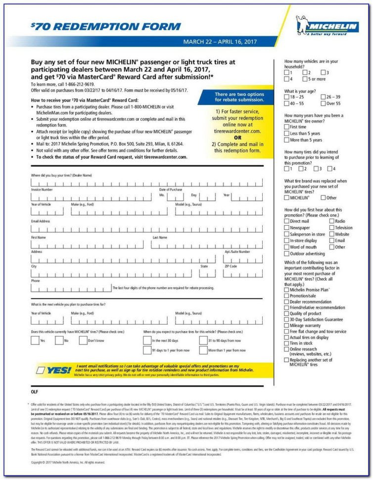Michelin Rebate form Pdf Michelin Rebate form Pdf Pdf for Michelin Rebate form Pdf