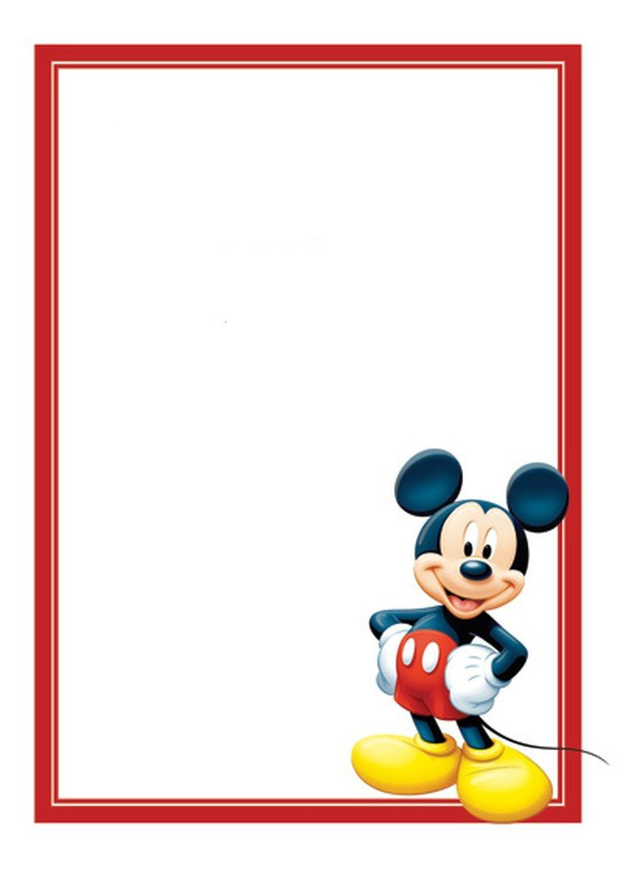 Mickey Mouse Birthday Invitations Template Free Mickey Mouse Invitations Template