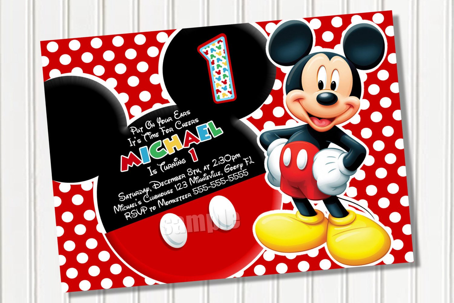 Mickey Mouse Birthday Invitations Template Free Mickey Mouse Template Download Free Clip Art Free