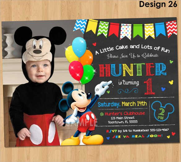 Mickey Mouse Birthday Invitations Template Sample Mickey Mouse Invitation Template 13 Download