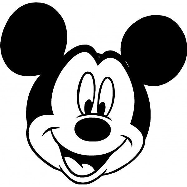 Mickey Mouse Face Template Mickey Mouse Face Silhouette at Getdrawings