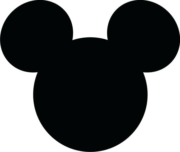 Mickey Mouse Face Template Mickey Mouse Silhouette at Getdrawings