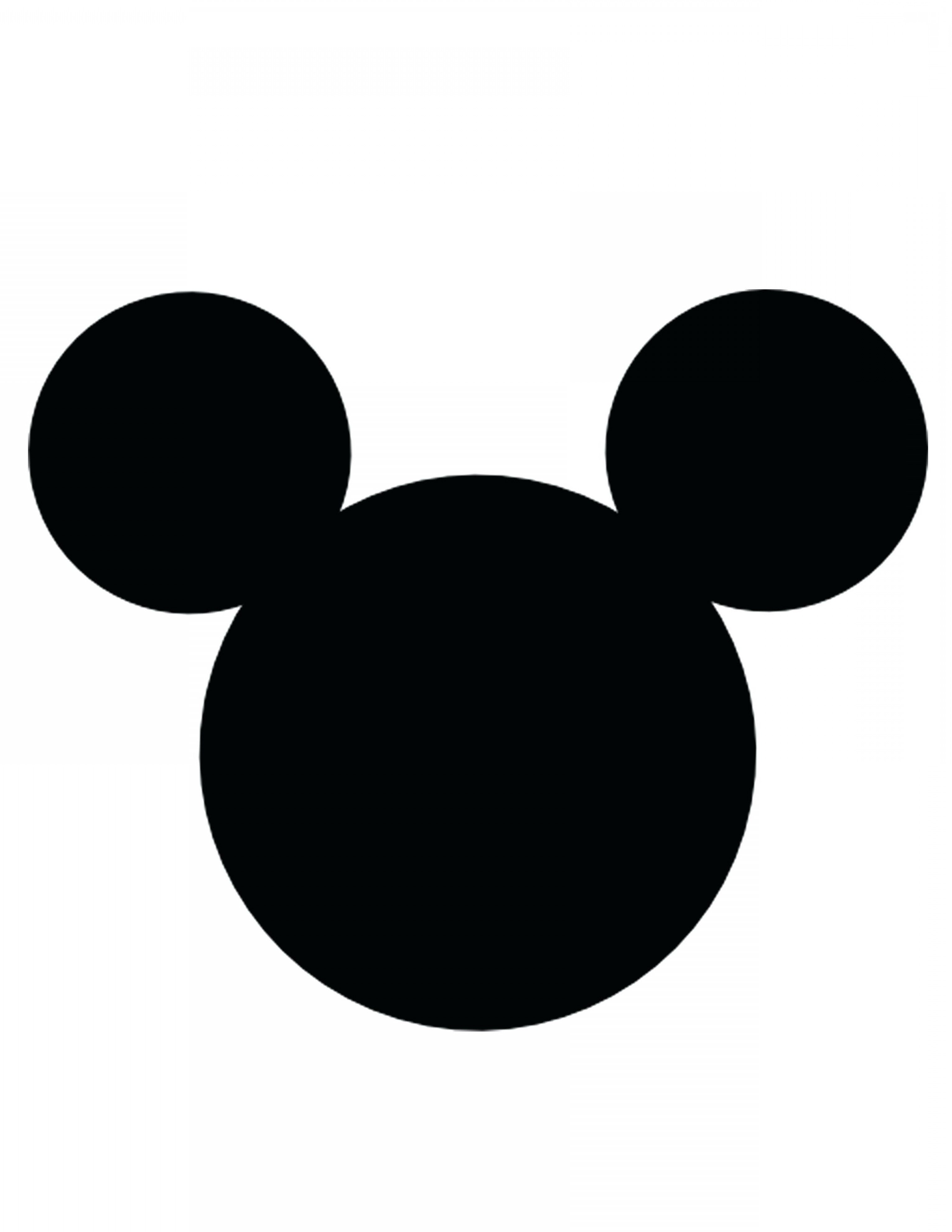 Mickey Mouse Face Template Mickey Vector