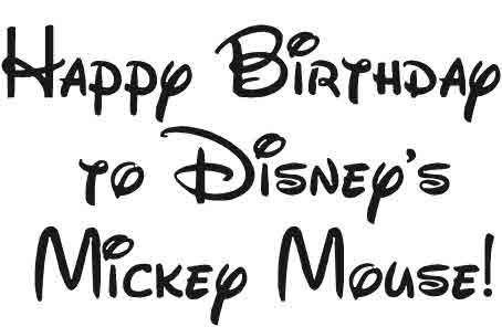 Mickey Mouse Font Free Disney Font Fonts