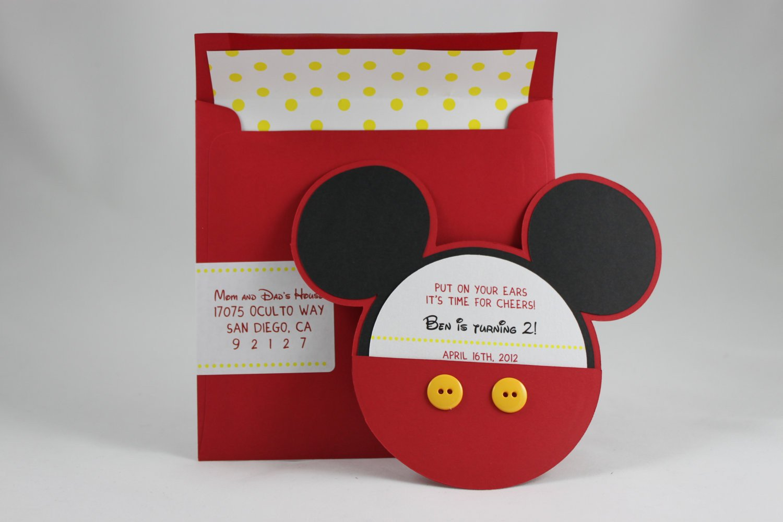 Mickey Mouse Photo Invitations Mickey Mouse Invitation
