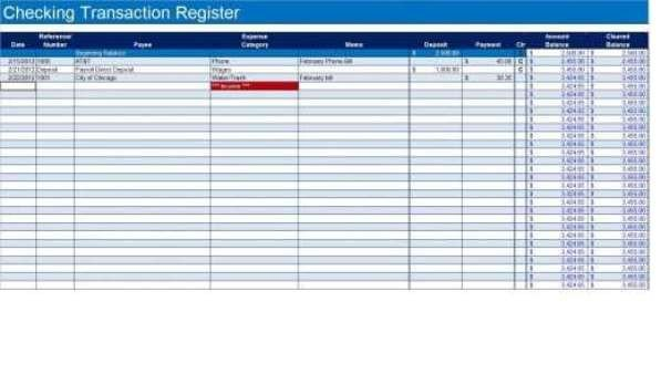 Microsoft Excel Checkbook Template 9 Excel Checkbook Register Templates Excel Templates