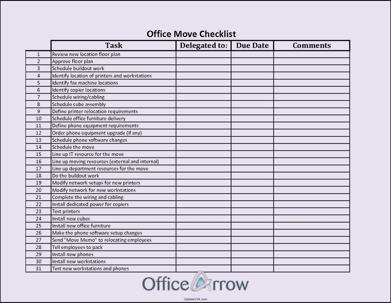 Microsoft Office Check Template Fice Move Checklist Template Excel Template Update234