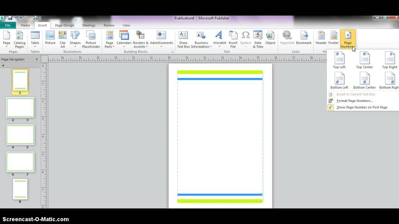 Microsoft Publisher Booklet