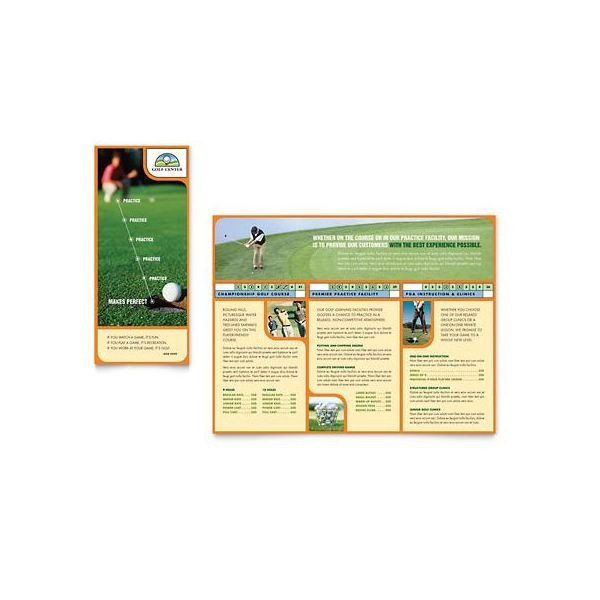 Microsoft Publisher Booklet Templates 10 Microsoft Publisher Brochure Golf Template Options