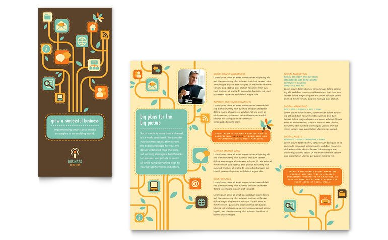 Microsoft Publisher Booklet Templates Business Services Tri Fold Brochure Template Word