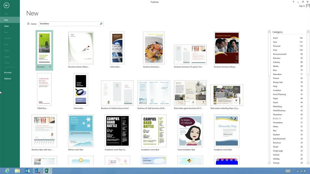 Microsoft Publisher Booklet Templates Create A Business Brochure with Microsoft Publisher 2013