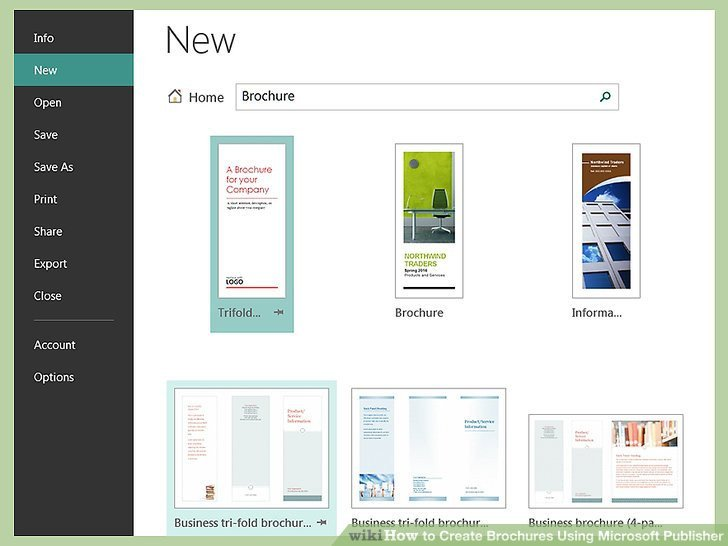 Microsoft Publisher Booklet Templates How to Create Brochures Using Microsoft Publisher 11 Steps