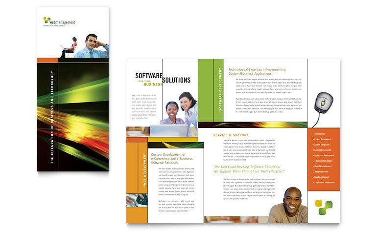 Microsoft Publisher Booklet Templates Internet software Brochure Template Word & Publisher