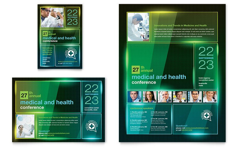 Microsoft Publisher Flyer Templates Medical Conference Flyer & Ad Template Word & Publisher