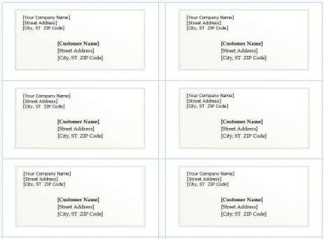 Microsoft Word Address Labels Template 21 Free Mailing Label Template Word Excel formats