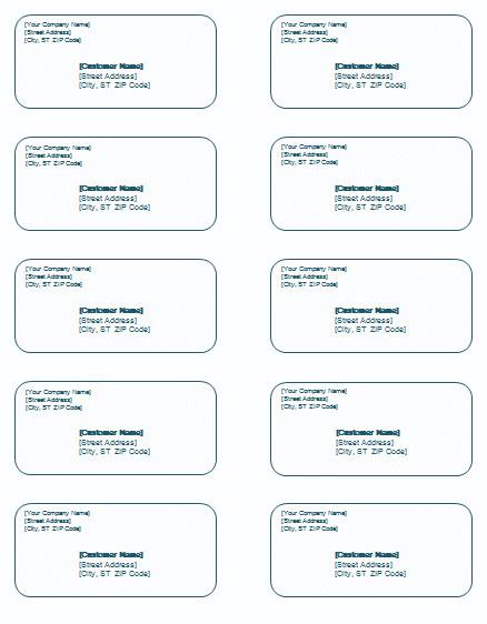 Microsoft Word Address Labels Template Shipping Label Template Templates for Microsoft Word