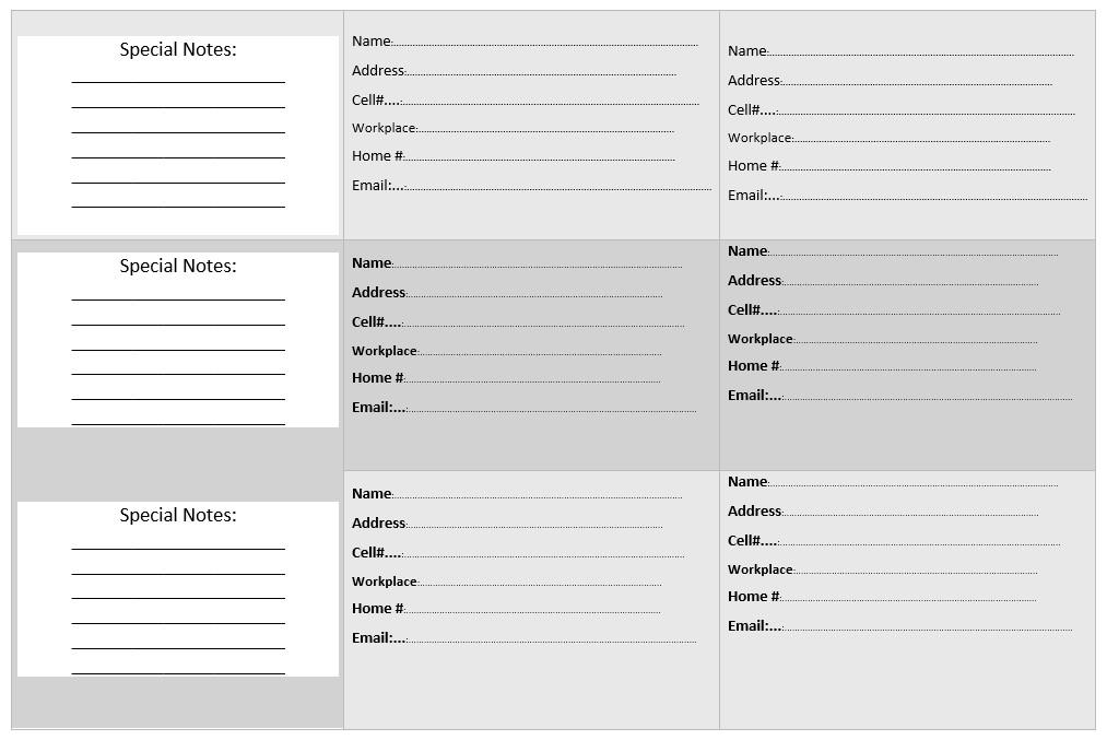 Microsoft Word Book Template 20 Free Address Book Templates Word Templates