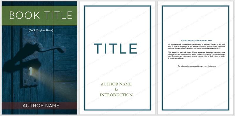 Microsoft Word Book Template Book Templates Dotxes