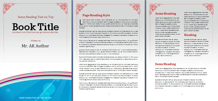 Microsoft Word Book Template Booklet Template