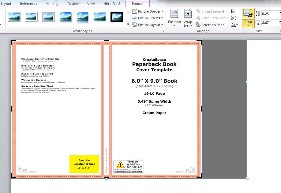 Microsoft Word Book Template How to Make A Full Print Book Cover In Microsoft Word for